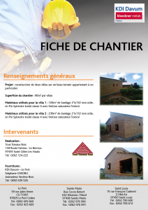Chantier 2 villas Pin