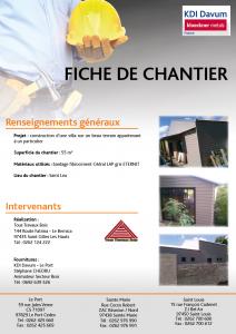 Chantier villa cédral